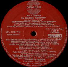 3 Lauser im Grinzinger Weinbottich (LP, Album, Club) (gebraucht VG+)