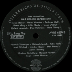 Fritz Hochwälder - Das Heilige Experiment (LP, Hörbuch) (gebraucht G)