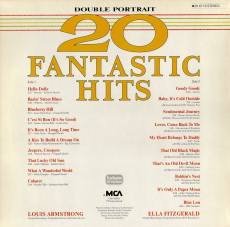 Ella Fitzgerald / Louis Armstrong - Double Portrait - 20 Fantastic Hits (LP, Compilation, Club) (gebraucht VG+)