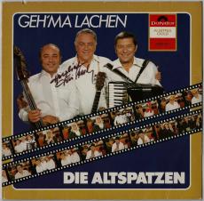 Die Altspatzen - Gehma lachen (LP, Signiert) (gebraucht VG)