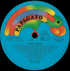 Andy Borg - Adios Amor (LP, Album, signiert) (gebraucht VG+)