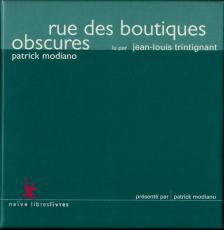 Rue des boutiques obscures, de Patrick Modiano (read by Jean-Luc Trintignant) (5 CD) (gebraucht VG)