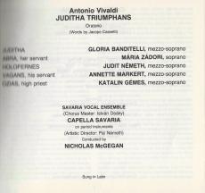 Antonio Vivaldi - Juditha Triumphans - Oratorio (2CD) (gebraucht VG)
