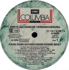 Erste Allgemeine Verunsicherung - Kann Denn Schwachsinn Sünde Sein...? (2xLP, Comp.) (gebraucht VG)