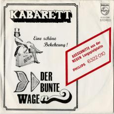 Kabarett - Eine schöne Bekehrung! Der Bunte Wagen (Vinyl, 7) (gebraucht VG-)