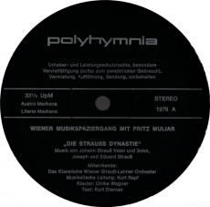 Fritz Muliar - Wiener Musikspaziergang - Die Straußdynastie (LP, Vinyl) (gebraucht VG)