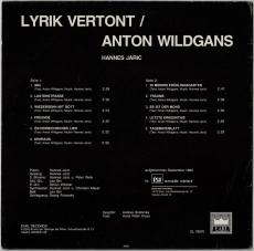 Hannes Jaric - Lyrik Vertont / Anton Wildgans (LP, Album) (gebraucht VG)