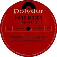 Hans Moser - Habe D Ehre (LP, Album) (gebraucht)