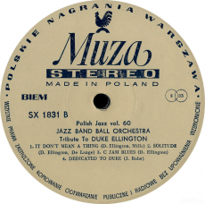 Jazz Band Ball Orchestra - Tribute To Duke Ellington (LP, Album) (gebraucht G+)