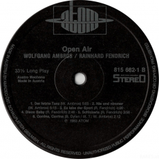 Ambros + Fendrich - Open Air (LP, Live) (gebraucht VG-)