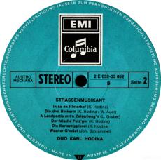 Karl Hodina - Duo Karl Hodina - Strassenmusikant (LP, Album) (gebraucht VG-)