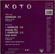 Koto - Acknowledge (12, Vinyl) (gebraucht G+)