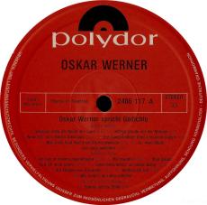 Oskar Werner spricht Gedichte (LP, Vinyl) (gebraucht VG)