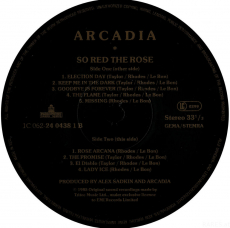 Arcadia - So Red The Rose (LP, Album) (gebraucht G)