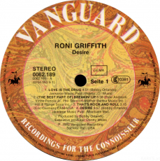 Roni Griffith - Desire (LP, Album) (akzeptabel)