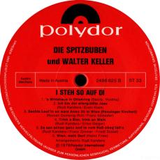 Die Spitzbuben mit Walter Keller - I steh auf di (LP, Album) (gebraucht G+)
