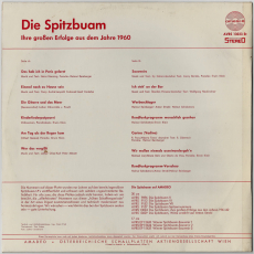 Die Spitzbuam - Ihre großen Erfolge aus dem Jahre 1960 (LP, Comp.) (gebraucht VG)