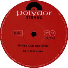 Die 3 Spitzbuben - Hinter den Kulissen (184 623) (LP, Album) (gebraucht VG)