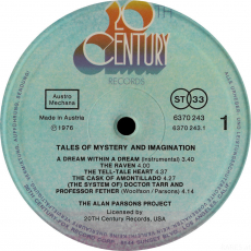 The Alan Parsons Project - Tales Of Mystery And Imagination (LP, Album) (gebraucht G)