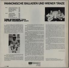 Toni Stricker - Pannonische Balladen Und Wiener Tänze (LP, Album) (gebraucht VG)