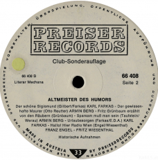 VARIOUS - Altmeister des Humors 1. Folge (LP, Club Ed.) (gebraucht)