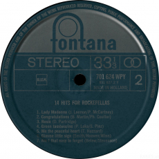 VARIOUS - 14 Hits For Rockefellas (LP, Vinyl) (gebraucht)