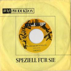 3 Meckys - Ja, Mir San Mitn Radl Da (Vinyl, 7, Autogramm) (gebraucht VG-)