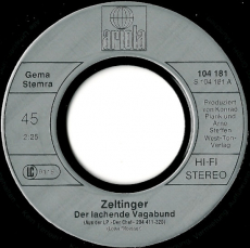 Zeltinger Band - Der Lachende Vagabund (Vinyl, 7) (gebraucht G+)