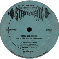 Bobby Bond - Bobby Bond Sings The Roger Miller Songbook (LP, Album) (gebraucht VG)