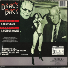 The Bollock Brothers - Dracs Back/Horror Movies (Vinyl, 12 Single) (gebraucht VG-)