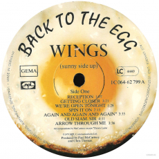 Wings - Back To The Egg (LP, Album) (gebraucht VG-)