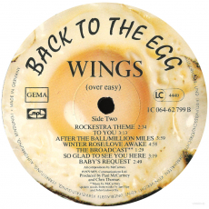 Wings - Back To The Egg (LP, Album) (used VG-)