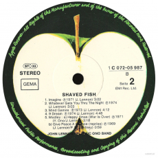 John Lennon & The Plastic Ono Band - Shaved Fish (LP, Album) (gebraucht VG-)