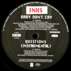 INXS - Baby Dont Cry (12 Single, Vinyl) (gebraucht VG-)