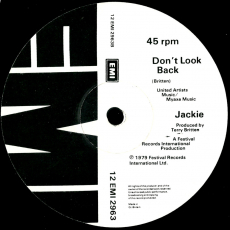 Jackie - Under Fire / Dont Look Back (12 Vinyl) (gebraucht VG-)