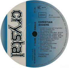 Christian Anders - Christian Anders (LP, Comp.) (gebraucht VG)
