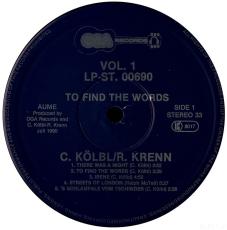 Christian Kölbl, Roman Krenn - To Find The Words... (LP, Album) (gebraucht VG)