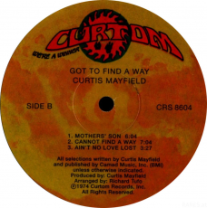 Curtis Mayfield - Got To Find A Way (LP, Album) (gebraucht)