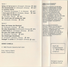 Horst Chmela - Horst Chmela (Audiokassette, Compilation) (gebraucht VG)