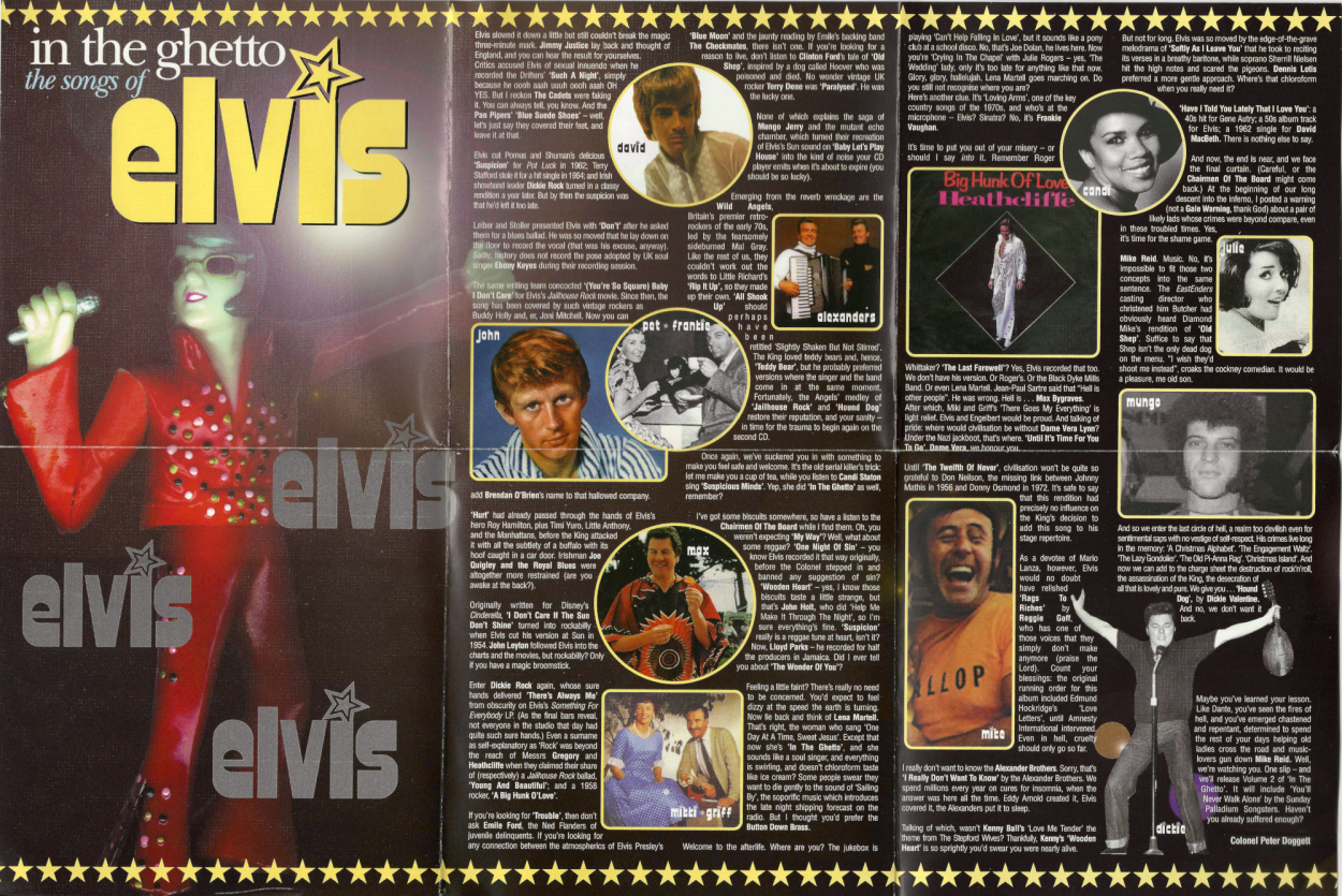 VARIOUS - The Songs Of Elvis - In The Ghetto (2xCD, Compilation) (used VG+)