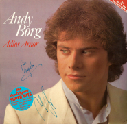 Andy Borg - Adios Amor (LP, Album, signed) (used VG+)