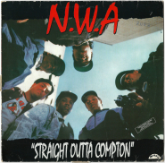 N.W.A. -  Straight Outta Compton (LP, Album) (used - POOR)