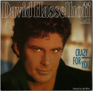 David Hasselhoff - Crazy For You (LP, Album) (used G)